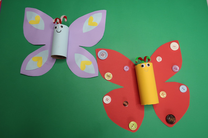 Butterfly Craft with Toilet Roll