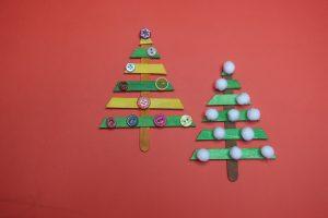 Christmas treecraftIdea with popsicle sticks