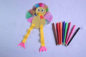 Coffee Filter Turkey Craft Idea for Kids