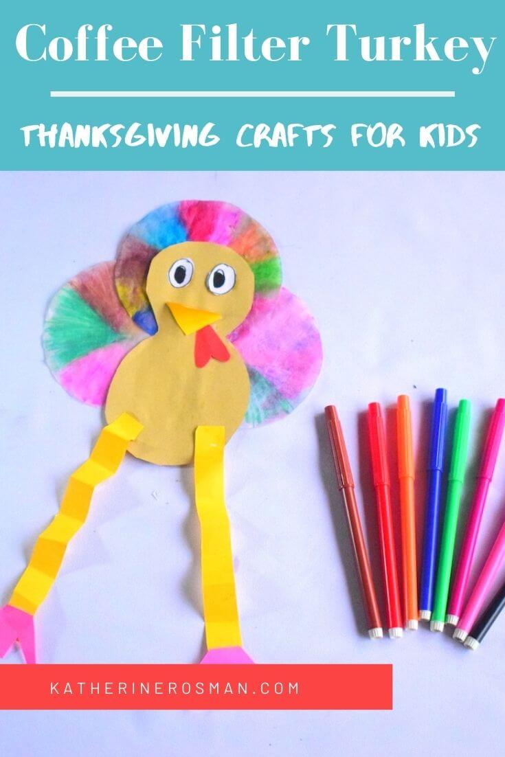 Coffee Filter Turkey Craft Project