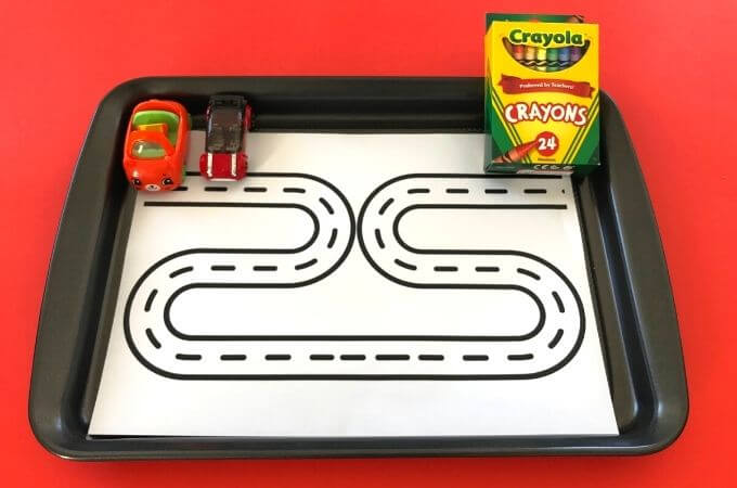 Coloring Racing Track
