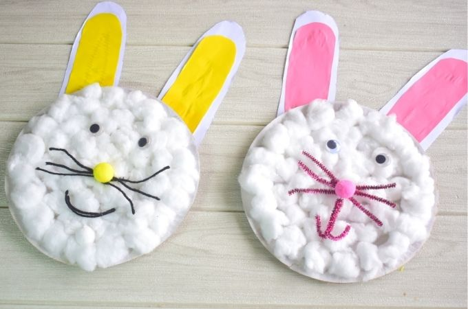 Complete Cotton Ball Easter Bunny Craft