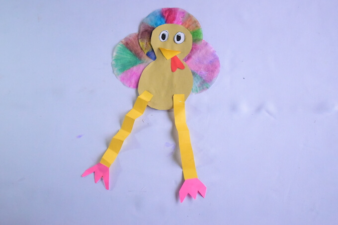 Completed Coffee Filter Turkey Craft