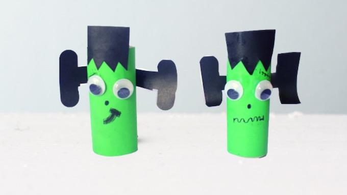Completed Frankenstein Toilet Roll Craft