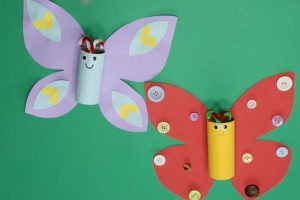 DIY Butterfly Craft from Toilet Roll for Kids