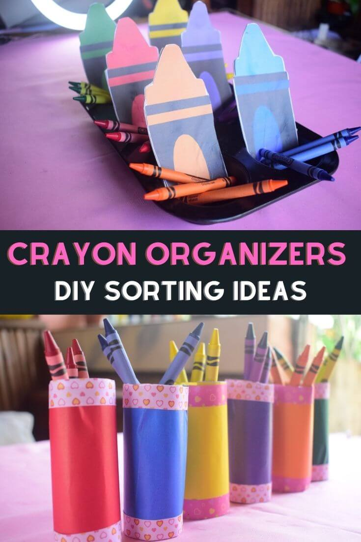 DIY Crayon Organizer Craft Ideas
