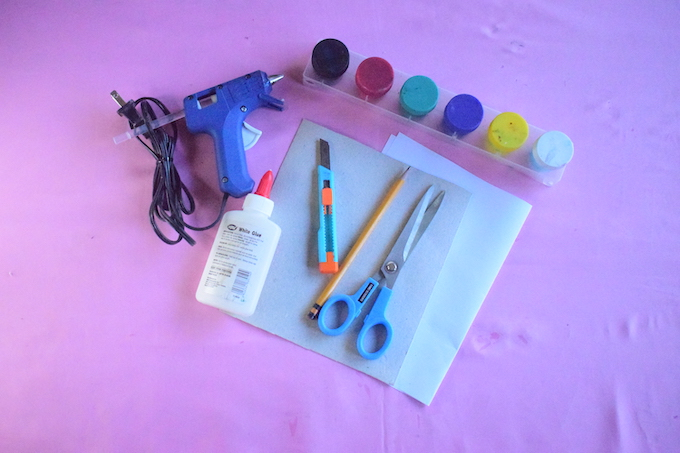 DIY Finger Paint Picture Frame Materials