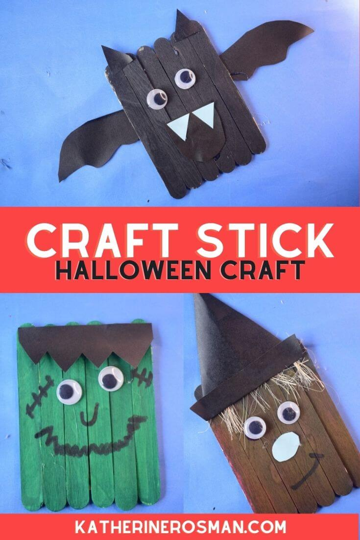 DIY Popsicle Stick Halloween Monster Craft