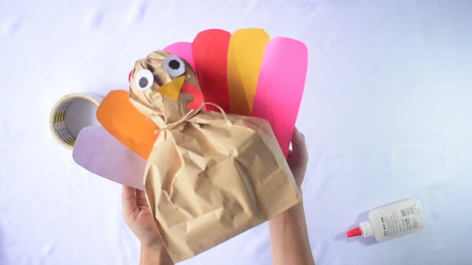 DIY Stuffed Paper Bag Turkey Craft Instructions