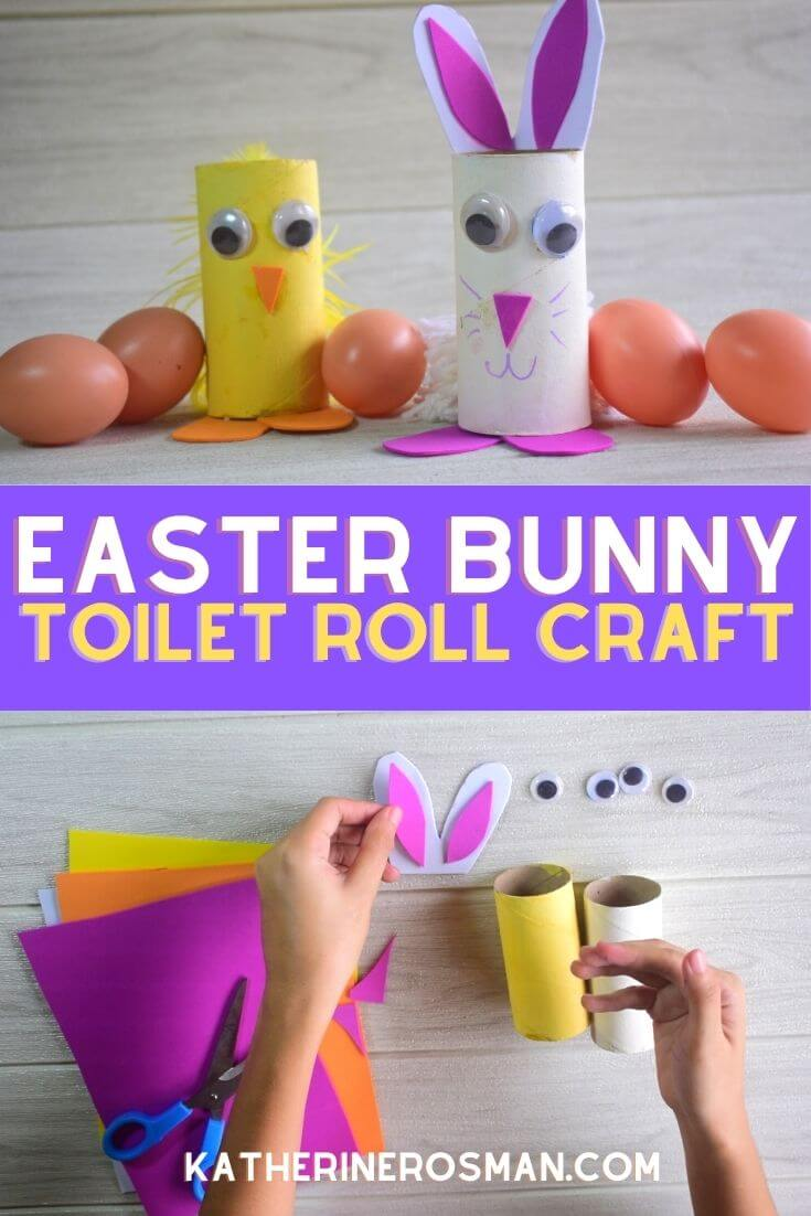 Easter Bunny Toilet Roll Craft for Kids