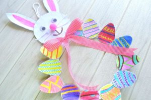 Easter Egg Wreath Craft Activity for Kids