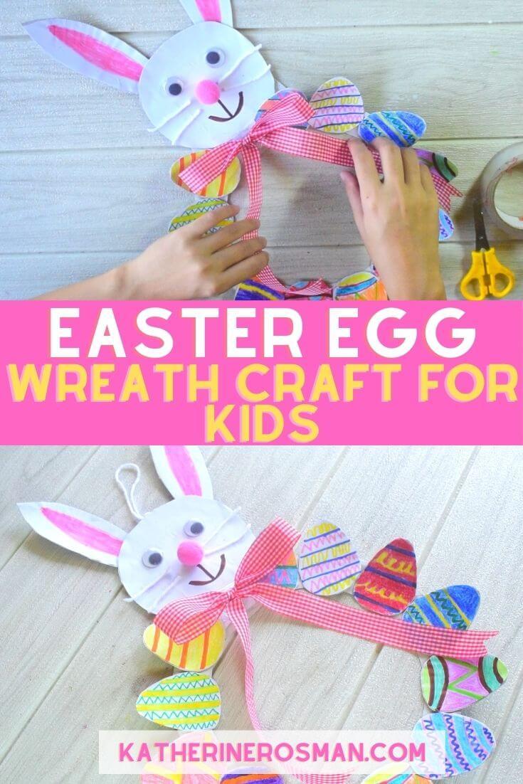 Easter Egg Wreath Craft Idea