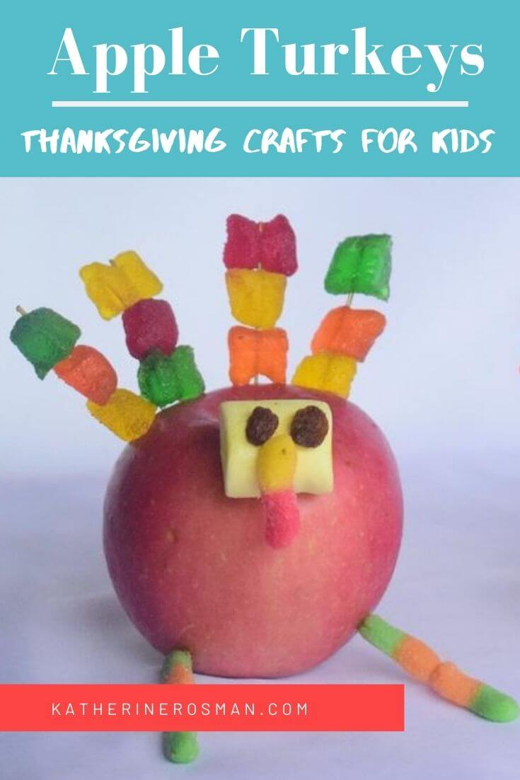 Edible Apple and Candy Turkey Craft