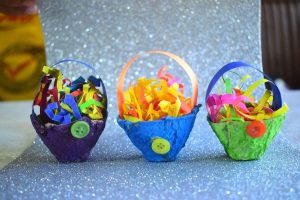 Egg Carton and Paper Easter Basket Craft Decoration