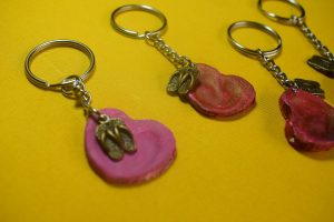 Fingerprint Key Ring Craft Idea