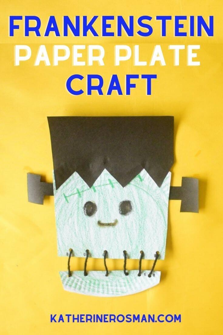 Frankenstein Paper Plate Craft Idea for Halloween