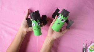 Frankenstein Toilet Roll Craft Idea for Kids