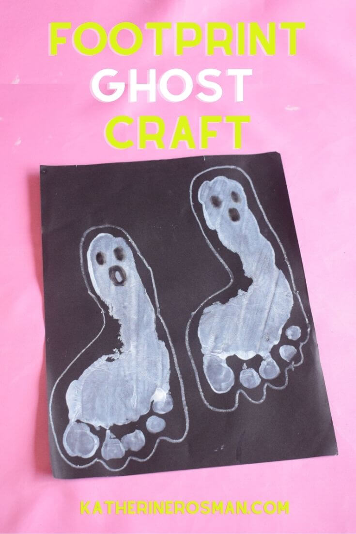 Ghost Footprint Halloween Craft for Kids