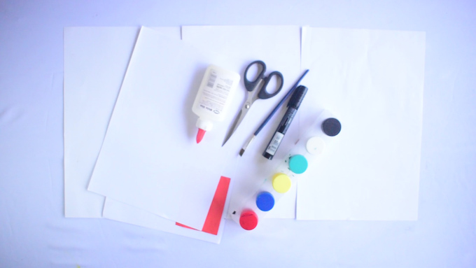 Hand and Footprint Turkey Craft Materials
