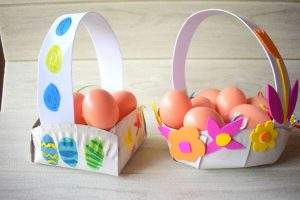 Homemade Easter Baskets from Paper Plates