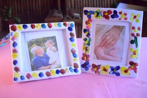 Homemade Finger Paint Picture Frame Craft