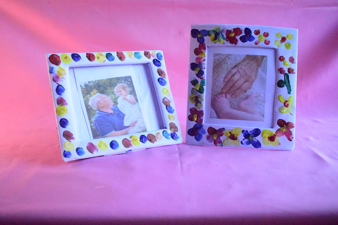 How to Make DIY Finger Paint Picture Frames