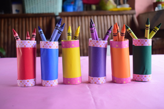 How to Make a Crayon Organizer from Toilet Roll