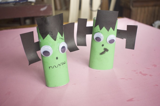 How to Make a Frankensteins Monster Toilet Roll Craft