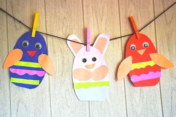 How to make a Paper Easter Egg Garland