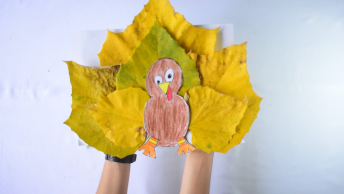 Leaf Turkey Craft Idea