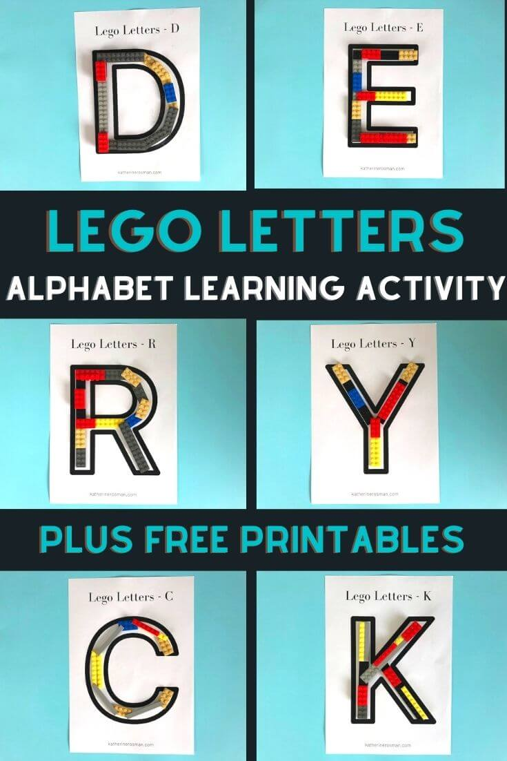 Lego Letter Alphabet Learning Activity