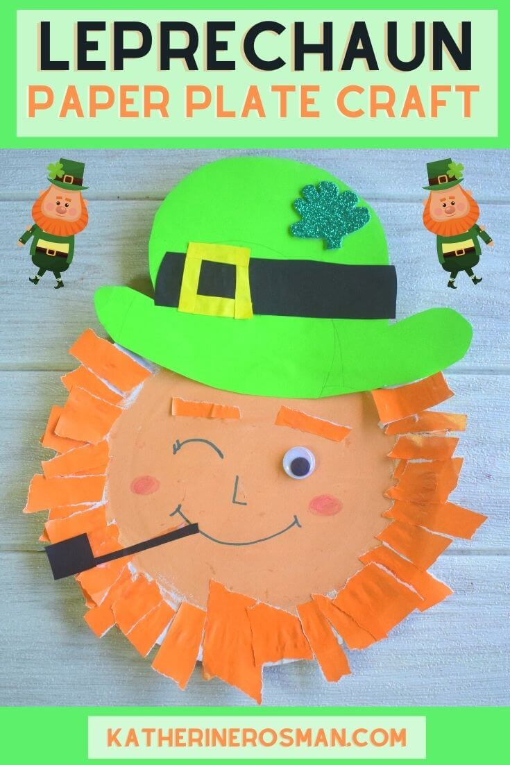 Leprechaun Paper Plate Craft Activity for Kids