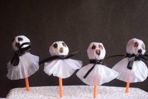 Lollipop Ghost Craft for Halloween
