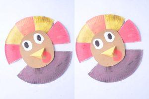 Painted Paper Plate Turkey Craft