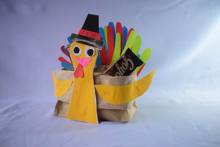 Paper Bag Turkey Centerpiece Craft