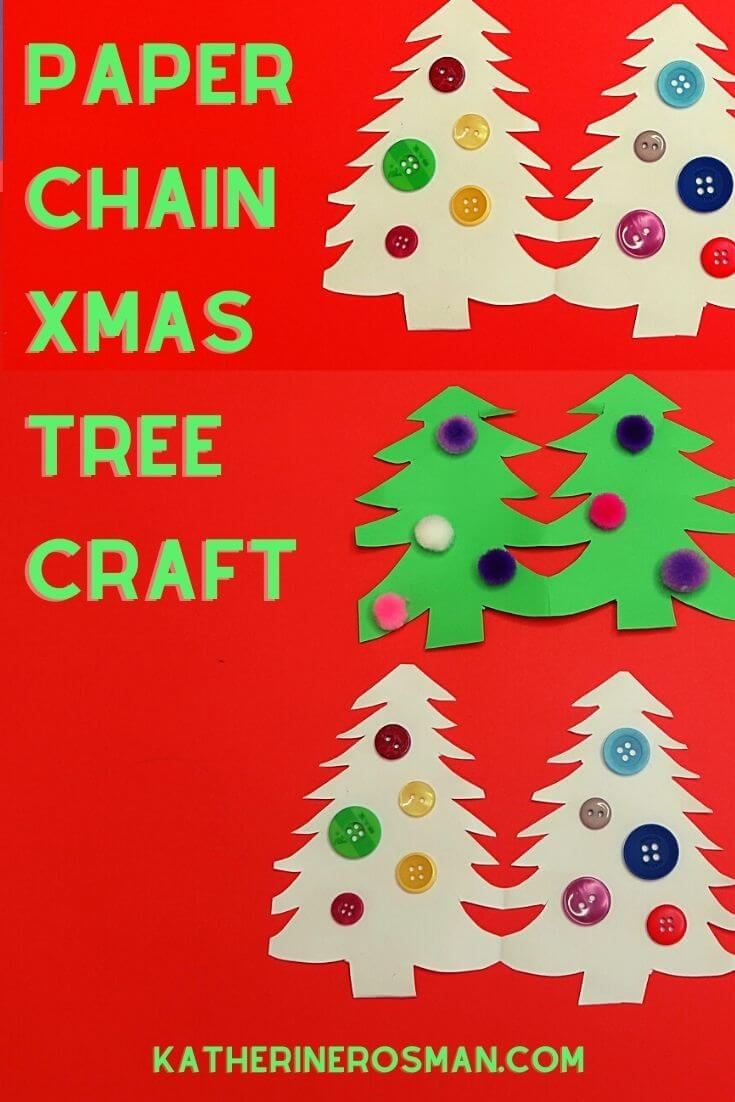 Paper Chain Christmas Tree Craft Idea for Kids