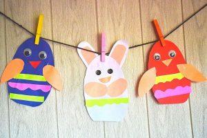 Paper Easter Egg Garland Decoration