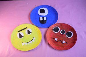 Paper Plate Halloween Monster Craft Idea