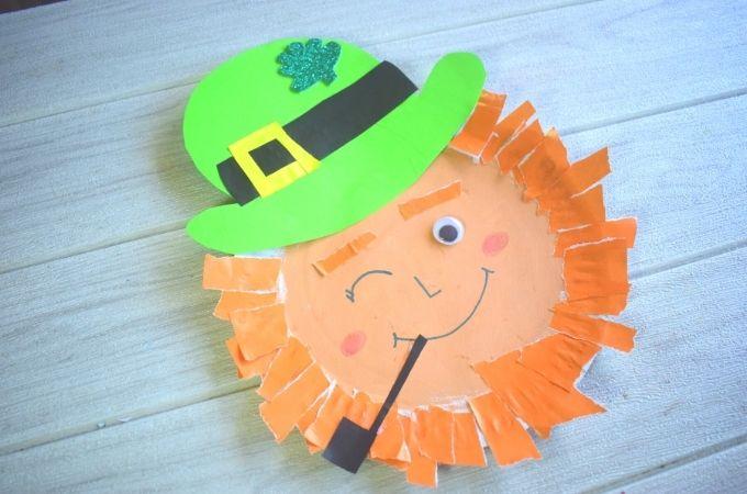 Paper Plate Leprechaun Craft