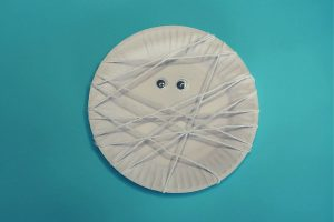 Paper Plate Mummy Craft Idea for Kids