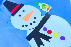Paper Plate Snowman Craft for Toddlers
