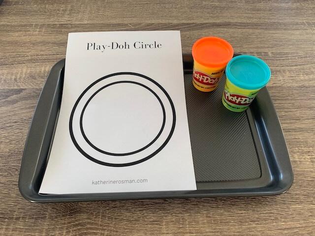 Play-doh Circle Materials