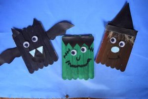 Popsicle Stick Halloween Monster CraftPopsicle Stick Halloween Monster Craft Idea