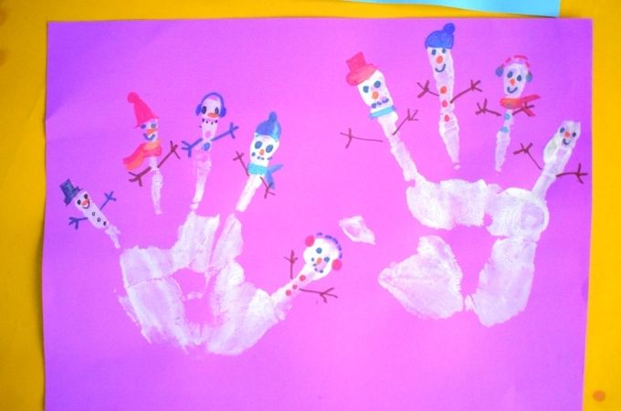 Snowman Handprint Craft