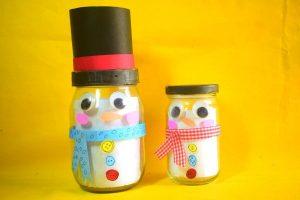 Snowman Jar Craft Decoration