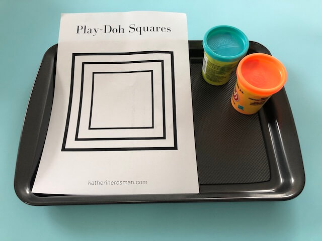 Square Play-doh Activity Materials