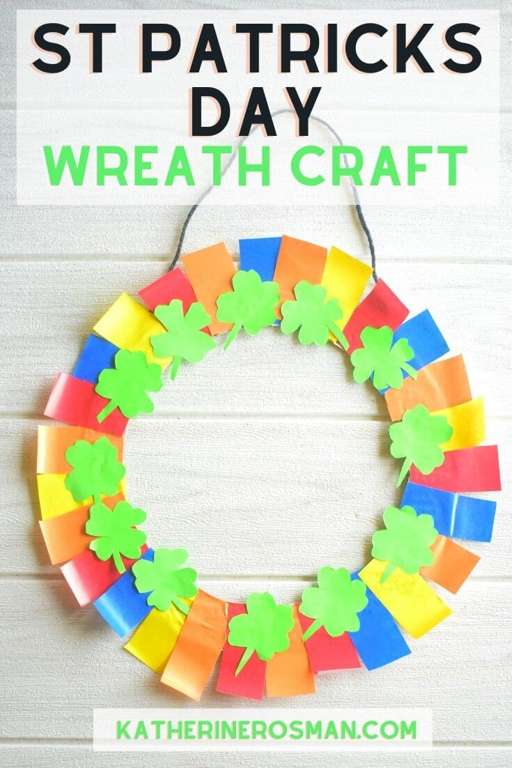 St Patricks Day Wreath Craft for Kids
