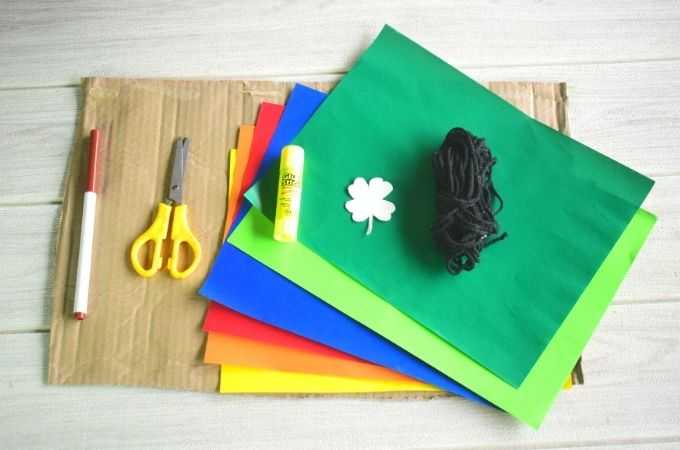 St Patricks Day Wreath Materials