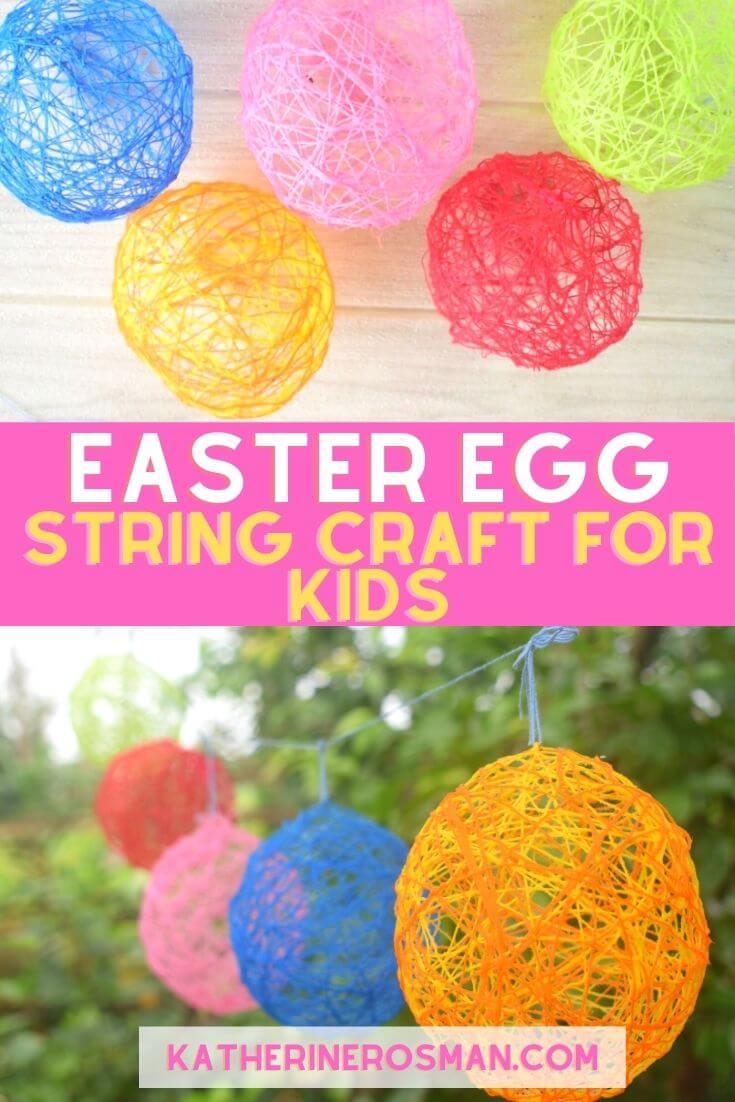 String Easter Egg Craft Activity for Kids
