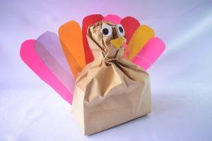 Stuffed Paper Bag Turkey Craft